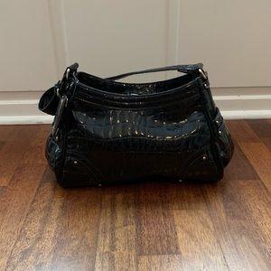 EUC! Liz Claiborne Faux Crocodile Print Handbag